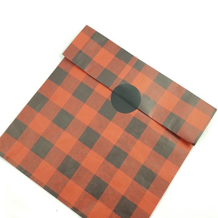 Flat Bags 24 + 9,5 x 42cm 100 units RED/BLACK