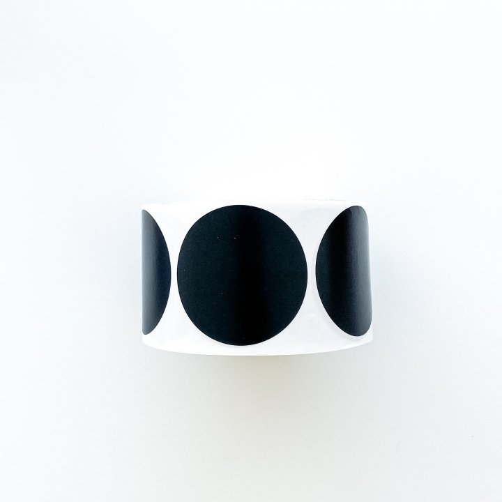 Etiquetas redondas  Negro 50mm 500 unidades