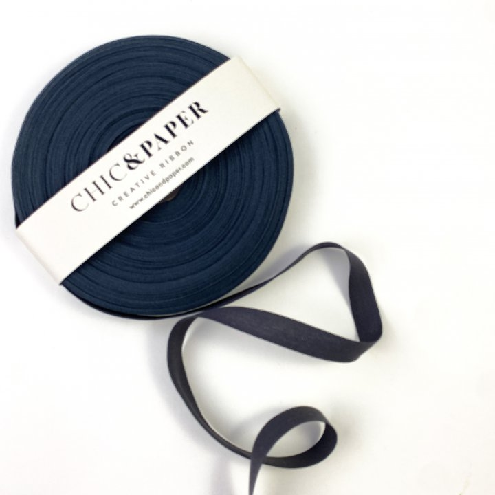 COTTON RIBBON BLUE NAVY DARK