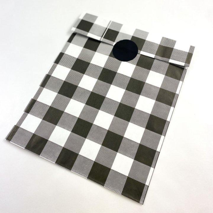 Flat Bags 24 + 9,5 x 42cm 100 units BLACK