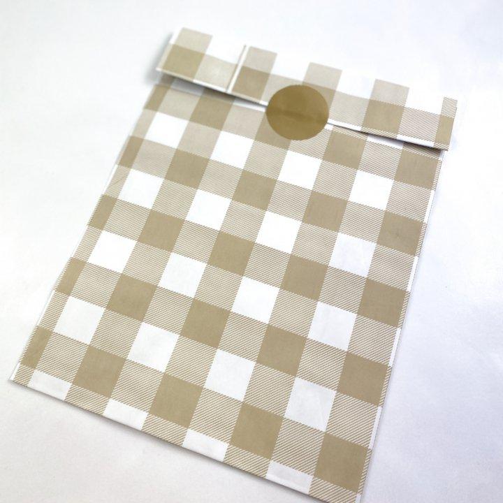 Flat Bags 24 + 9,5 x 42cm 100 units CREAM