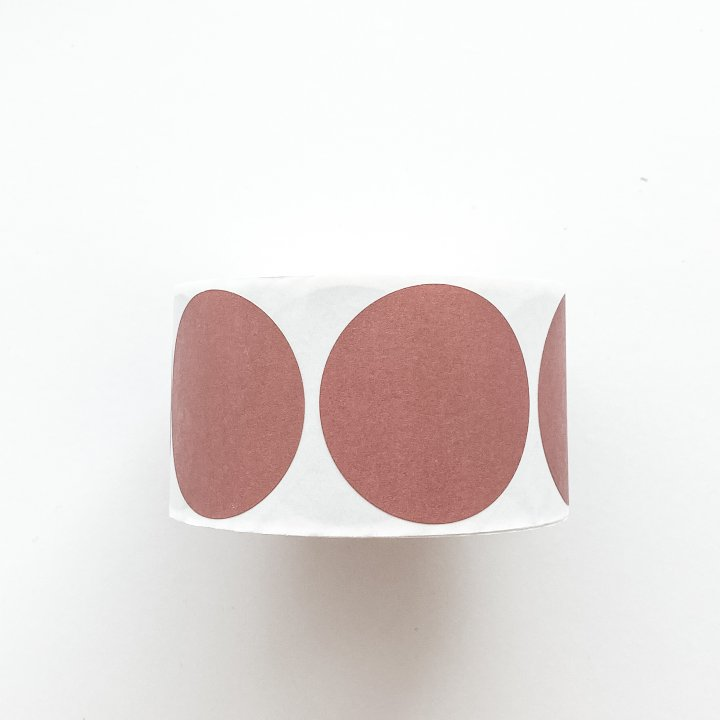 Round Dusty Pink Stickers 50mm 500 Units
