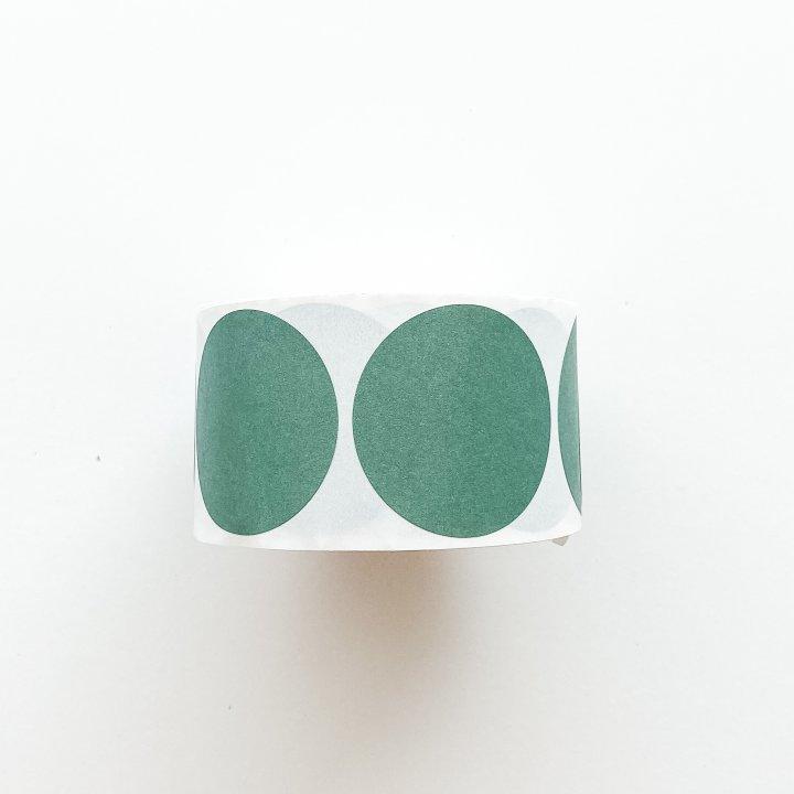 Etiquetas redondas  Verde Antiguo 50mm 500 unidades