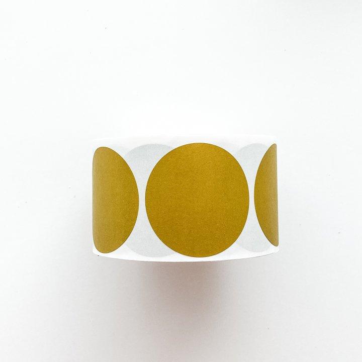 Etiquetas redondas Mustard  50mm 500 unidades