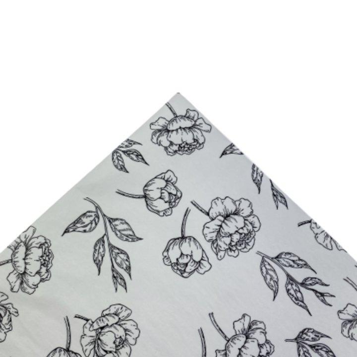 Papel Seda 25 hojas de 62x86cm GRIS/NEGRO