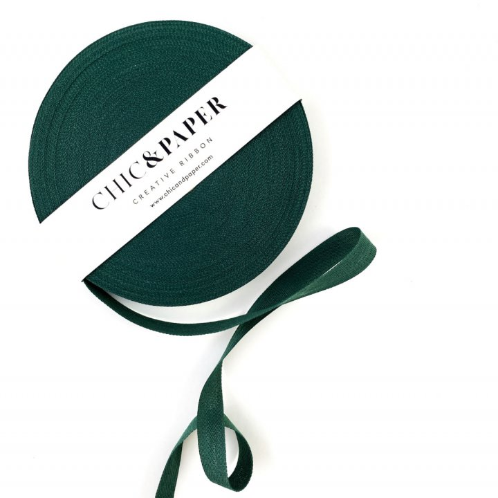 COTTON RIBBON FOREST GREEN