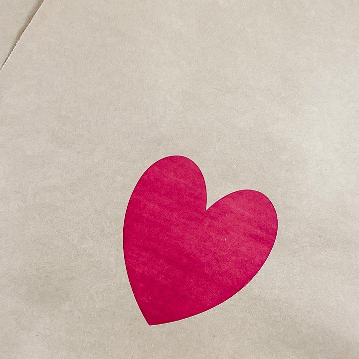 SHIPPING BAG ECO KRAFT  HEART