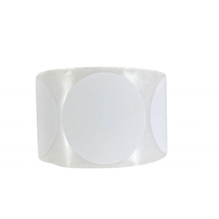 Etiquetas redondas Blancas 50mm 500 unidades
