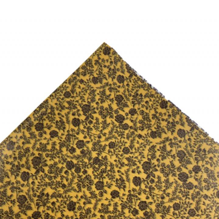 Papel Seda   500 hojas de 62x86cm MUSTARD/CHOCOLAT