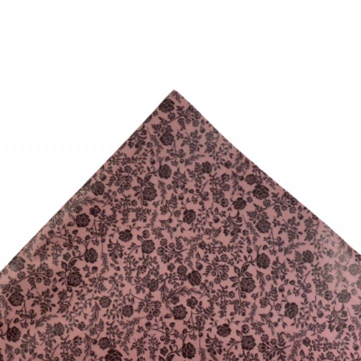 Papel Seda   500 hojas de 62x86cm ROSA VINTAGE/CHOCOLAT