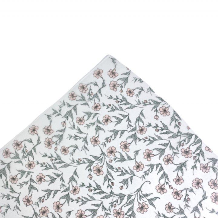 Papel Seda   500 hojas de 62x86cm VERDE VINTAGE/ROSA EMPOLVADO