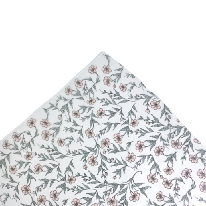 Papel Seda  25 hojas de 62x86cm VERDE VINTAGE/ROSA EMPOLVADO