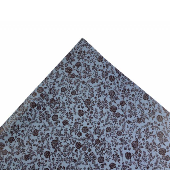 Papel Seda  25 hojas de 62x86cm AZUL VINTAGE/CHOCOLAT